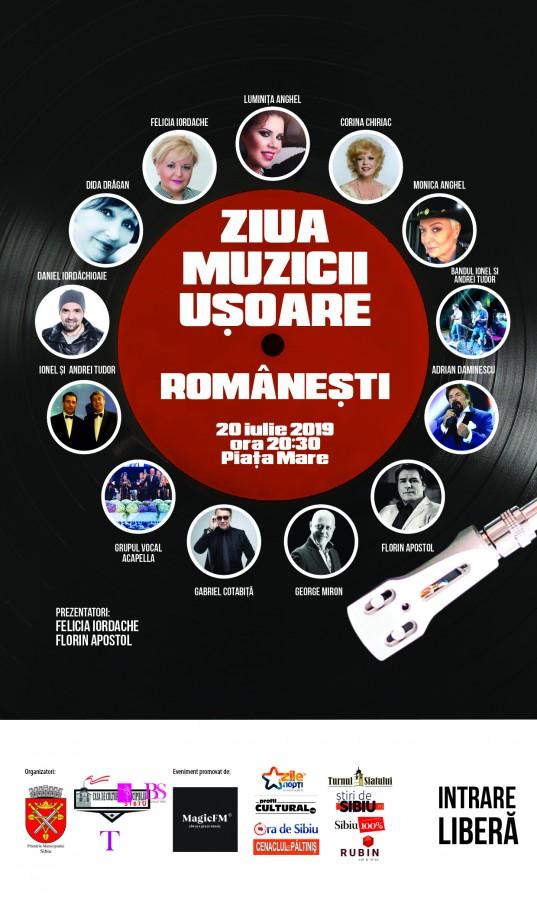 afis Ziua Muzicii Usoare Românesti