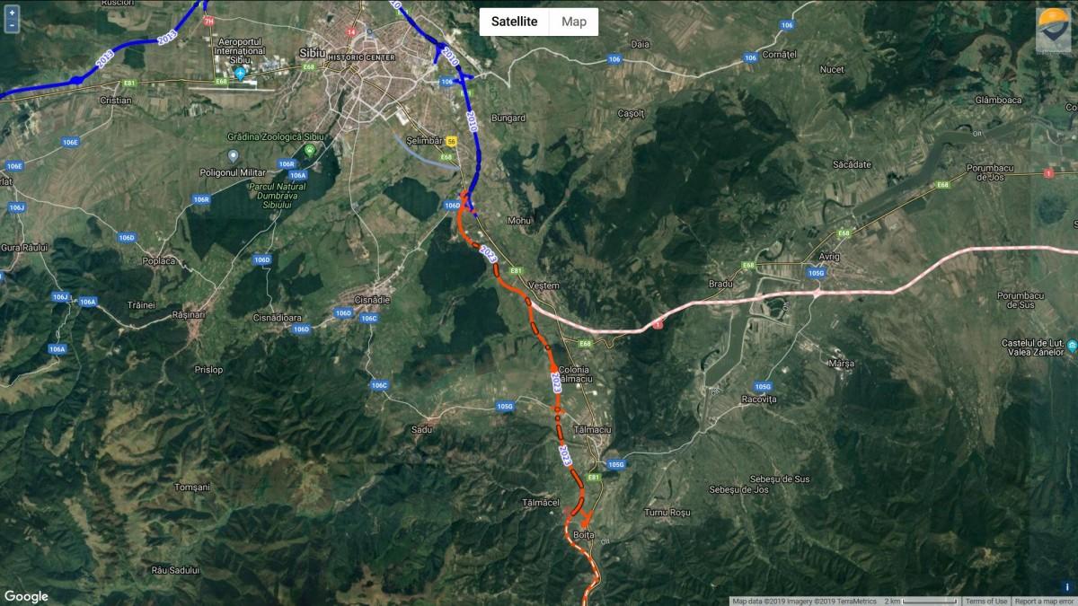 Traseul primului lot al autostrăzii Sibiu - Pitești Sursa: Asociația Pro Infrastructură