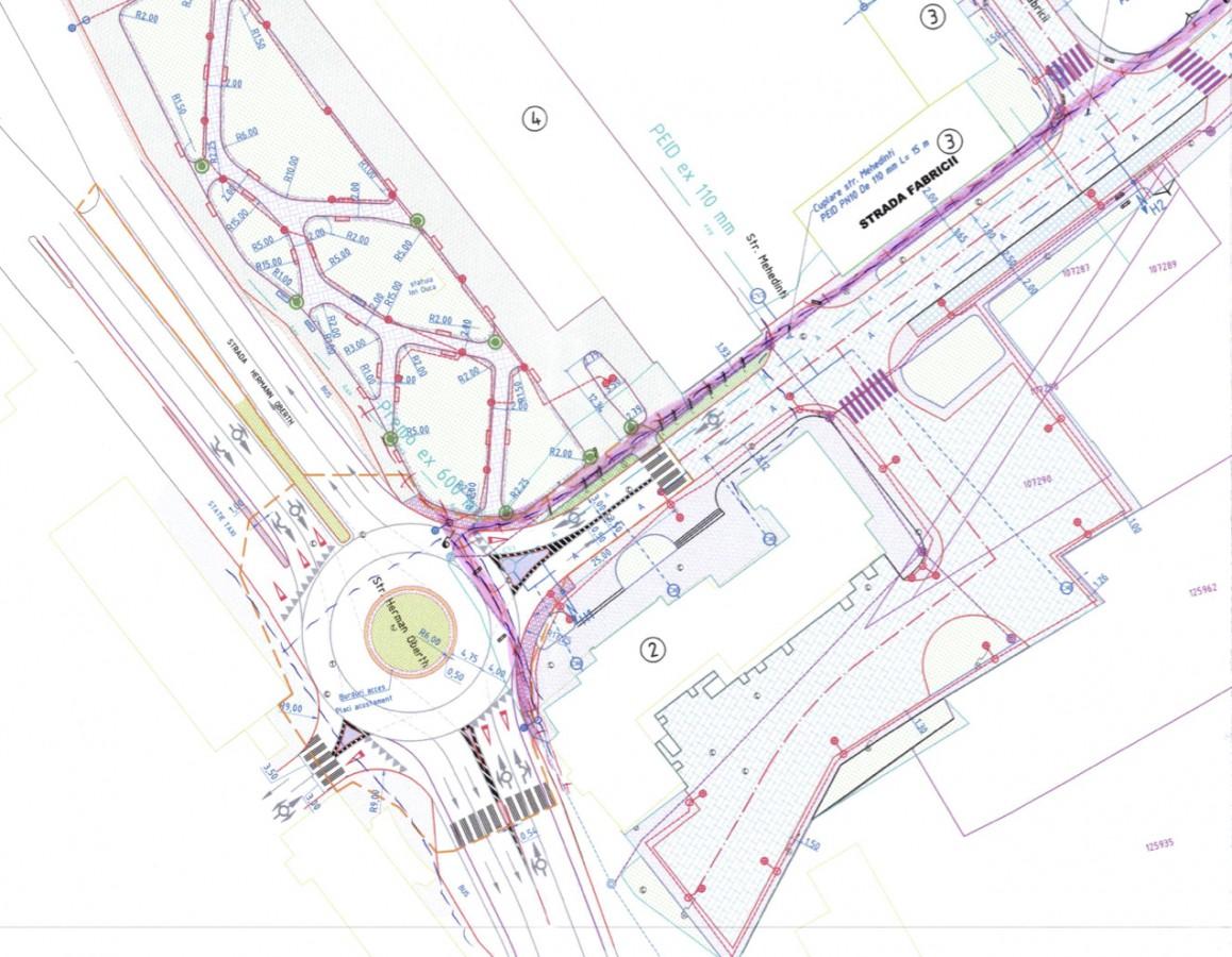 În vara acestui an, investitorii noului mall vor realiza și un sens giratoriu