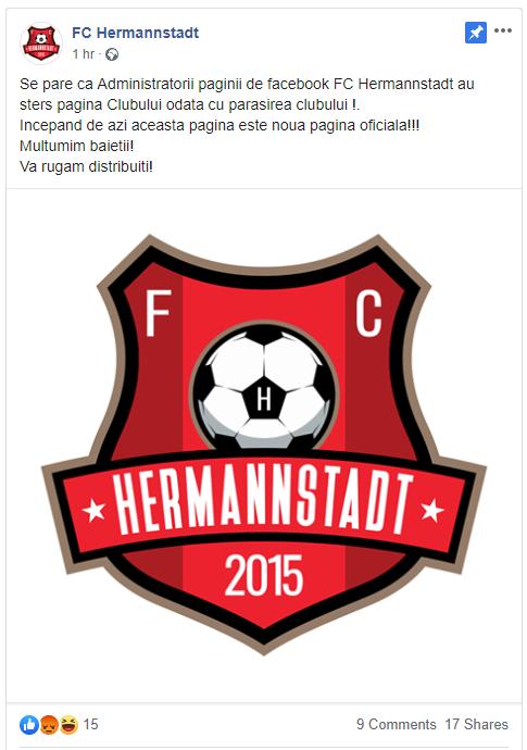 pagina fc hermannstadt noua