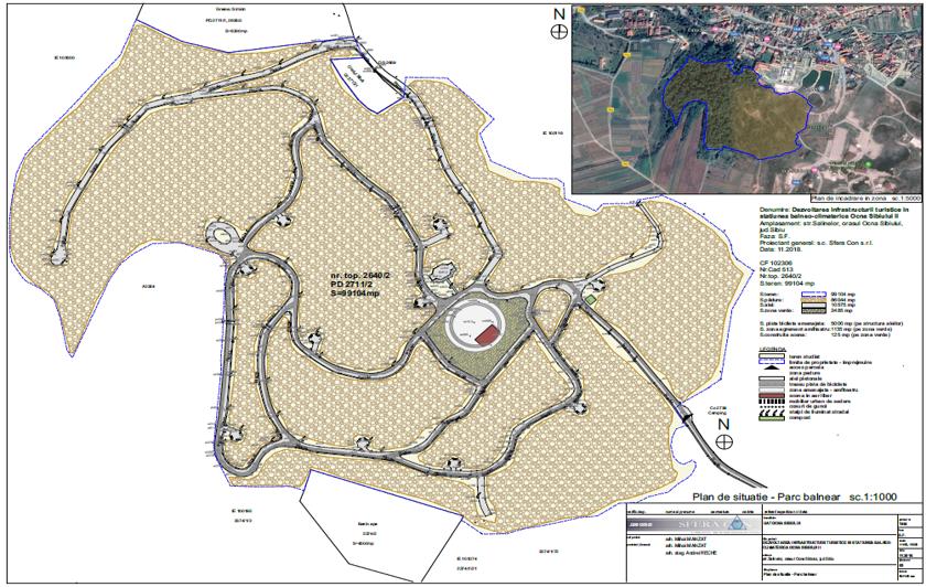 plan parc balnear ocna sibiului