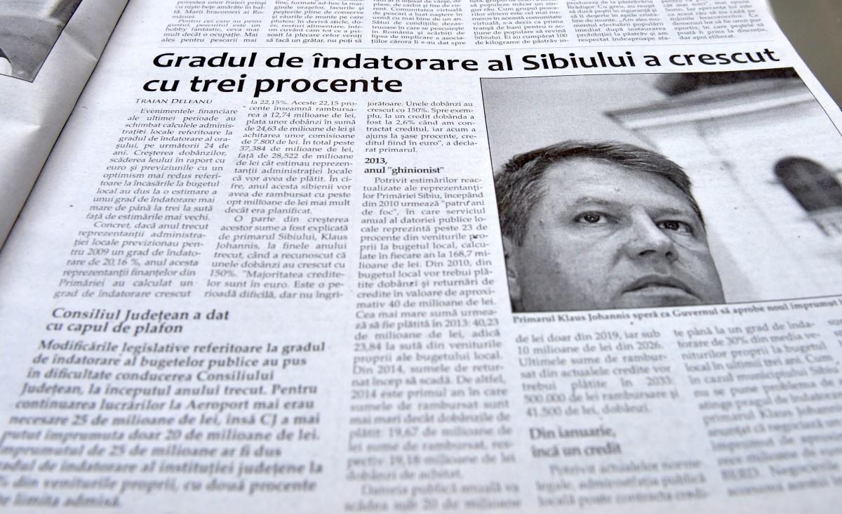 În 2009, Sibiul era sub semnul crizei economice