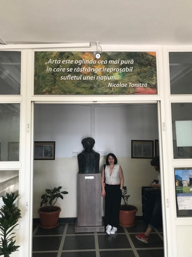 "Andra Tonitza la Liceul de Arte Plastice ""Nicolae Tonitza"""