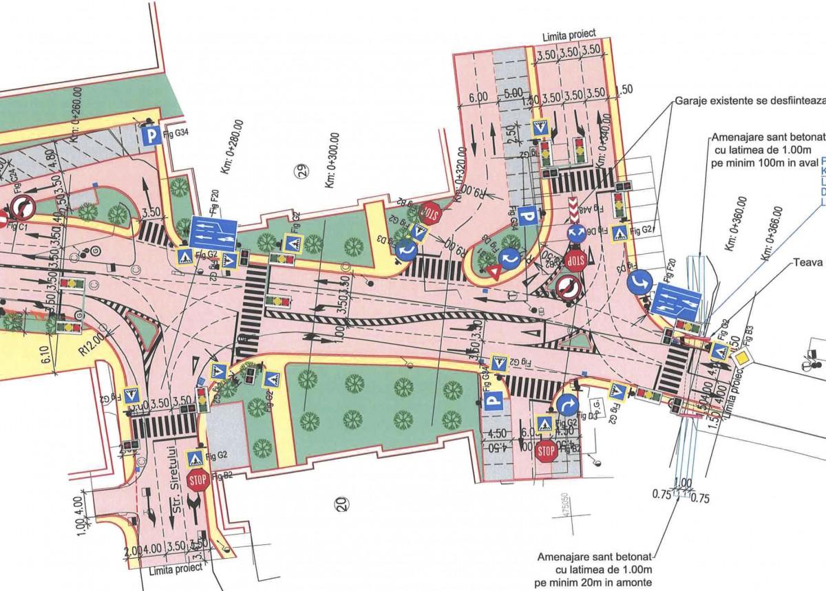 În Sibiu se va intra pe două benzi dinspre Cisnădie.