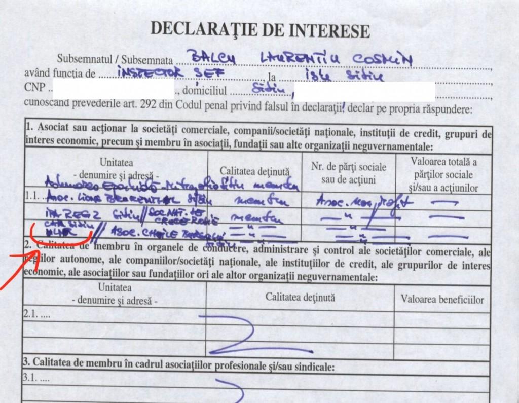 declaratie Balcu