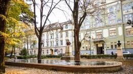 Sibiu fantana parc astra biblioteca astra toamna
