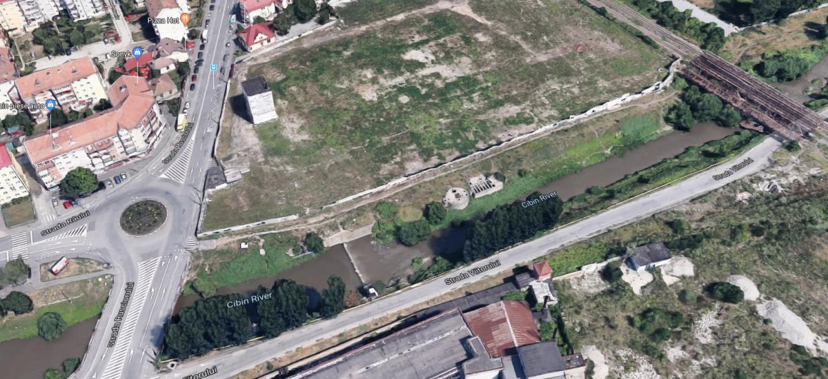 Viitorul magazin Lidl va fi amenajat pe terenul viitoarei Cazangerii. Foto: Google Earth