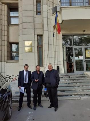 Delegația prezentă la Ministerul Justiției.