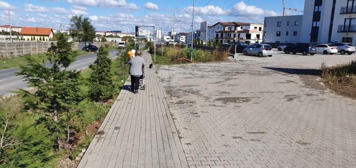 În zona cartierului Arhitecților este recomandabil să ocoliți pietonii pe străzile din cartier