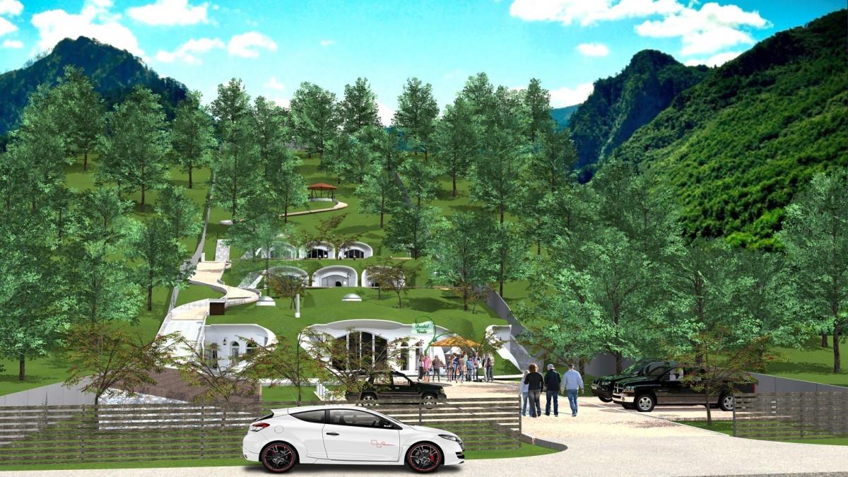 """Proiectul inițial. Sursa foto: Facebook """"Dealul Verde - Pensiune"""""""