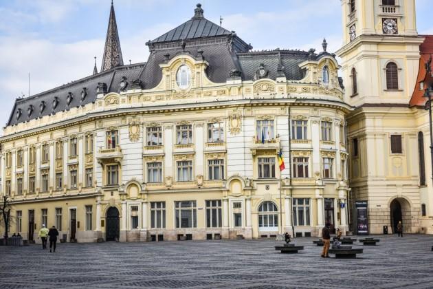 Sibiu Primarie piata mare iarna vreme meteo (6)
