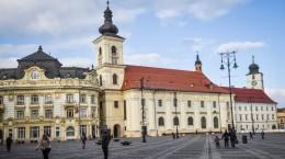 Sibiu Primarie piata mare iarna vreme meteo biserica greco catolica (5)