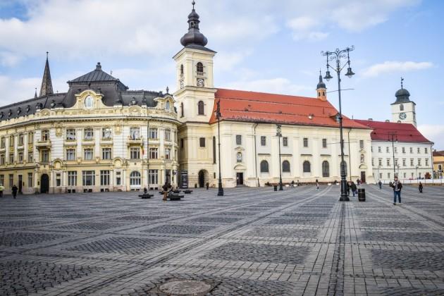 Sibiu Primarie piata mare iarna vreme meteo biserica greco catolica (7)