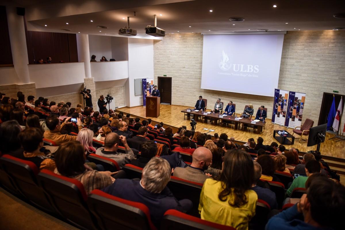 Sorin Radu, Tiplic, Livia Ilie, Dana Preda, Mihaescu dezbatere alegeri ULBS (17)
