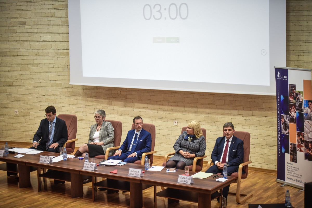 Sorin Radu, Tiplic, Livia Ilie, Dana Preda, Mihaescu dezbatere alegeri ULBS (67)