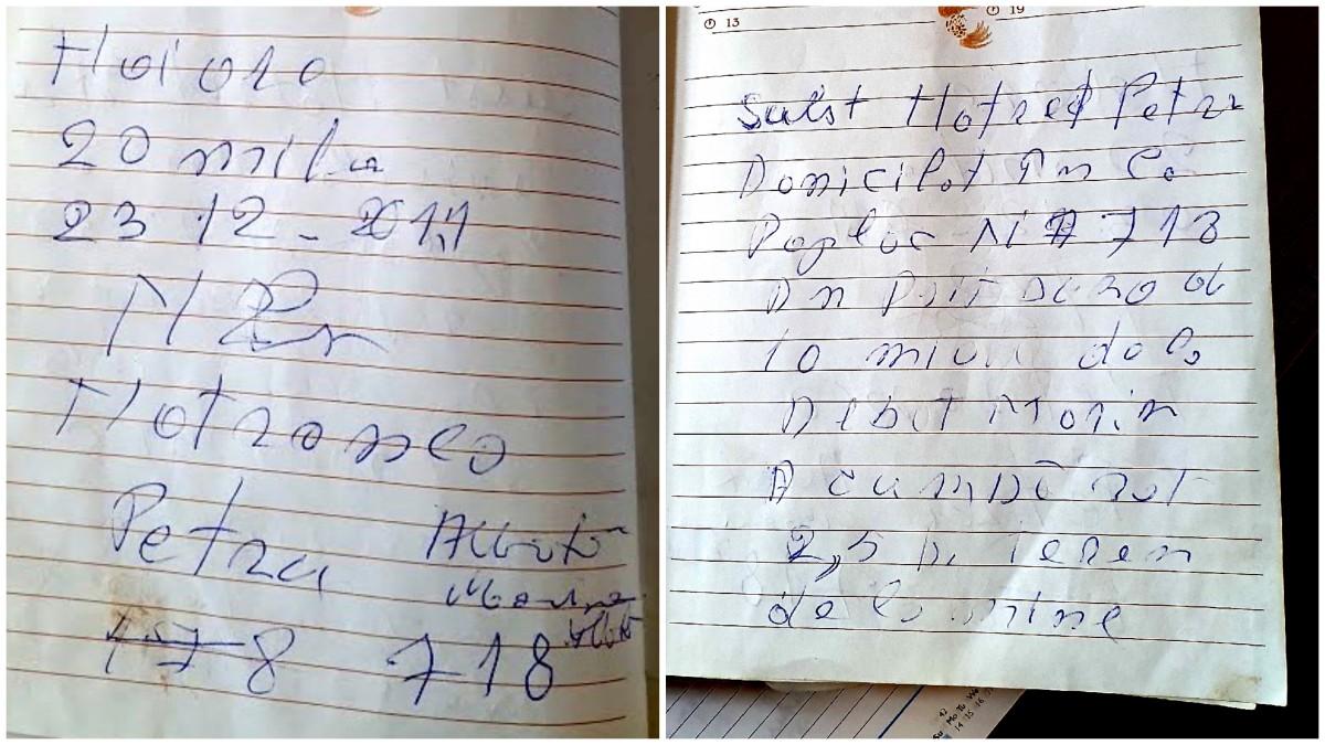Marina Albotă a prezentat o agendă în care spune că are scrisul lui Petre Motronea, care confirmă că a primit, pe ascuns față de sora sa, bani