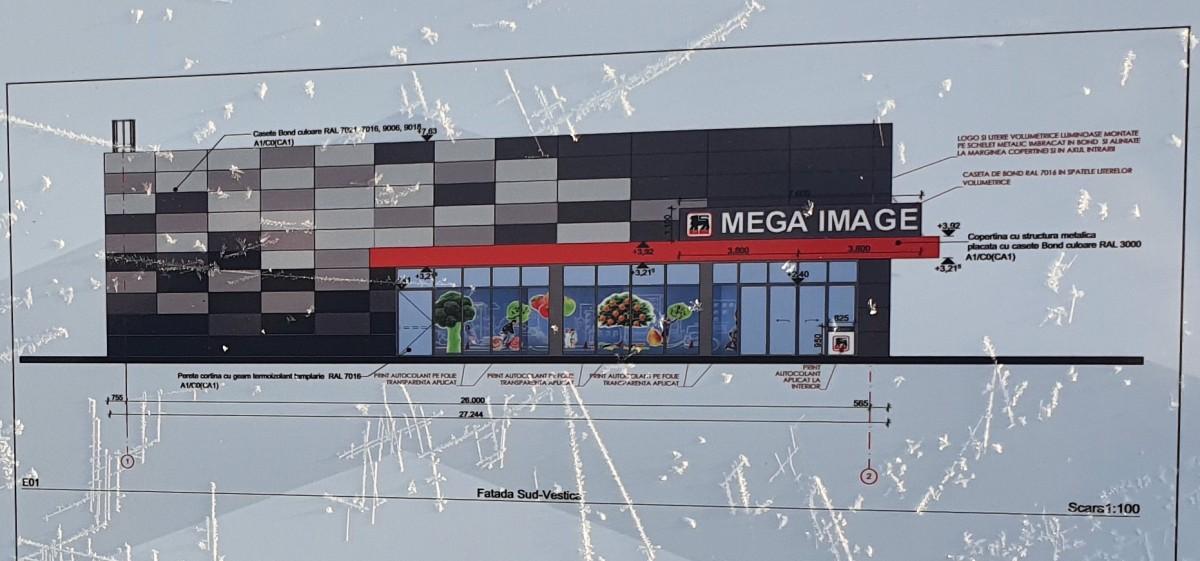 Clădirea viitorului magazin urmează a fi ridicată în aproximativ două luni