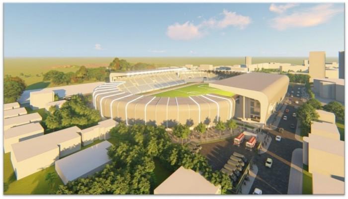 Simulare a viitorului stadion municipal. Sursa simulărilor: Eurocerad International SRL