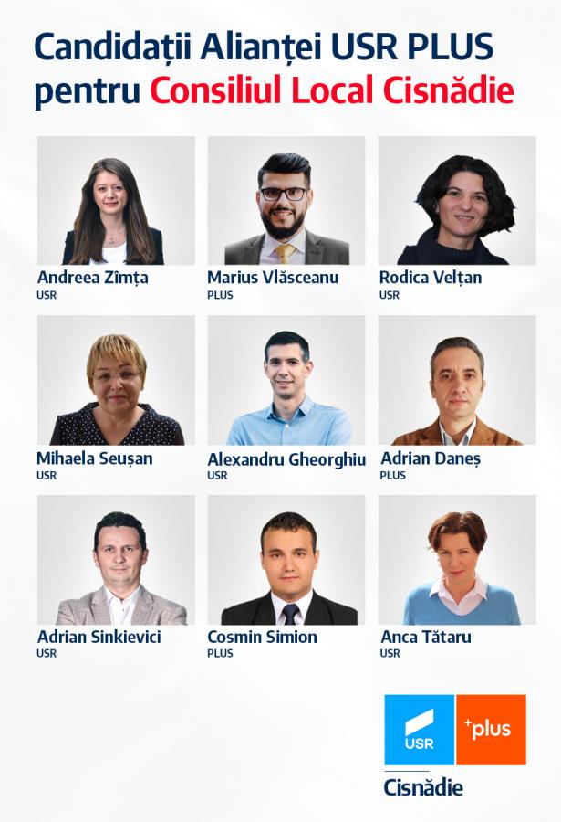 Alianța USR PLUS_Candidați Consiliul Local Cisnădie