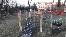 Locul de joacă din Sub Arini, pe 30 ianuarie