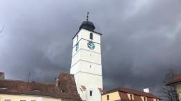sibiu turnul sfatului nori ploaie grindina meteo vreme