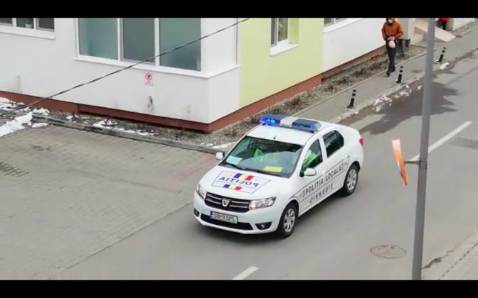politie patrula coronavirus