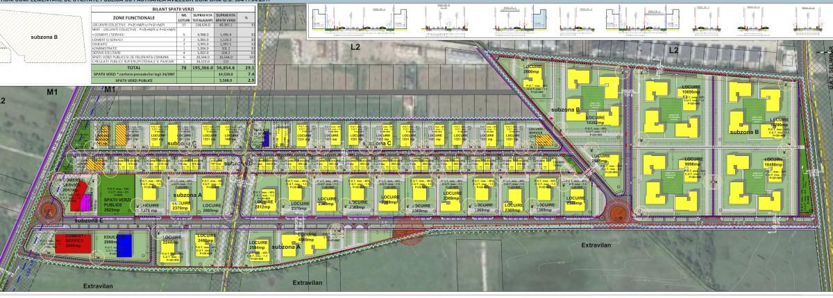 Viitorul cartier va fi dezvoltat pe o suprafață de aproximativ 19 ha