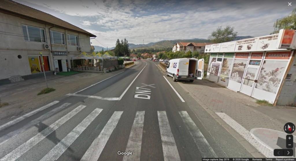 Captură Google Maps cu distanța dintre cele două treceri de pietoni
