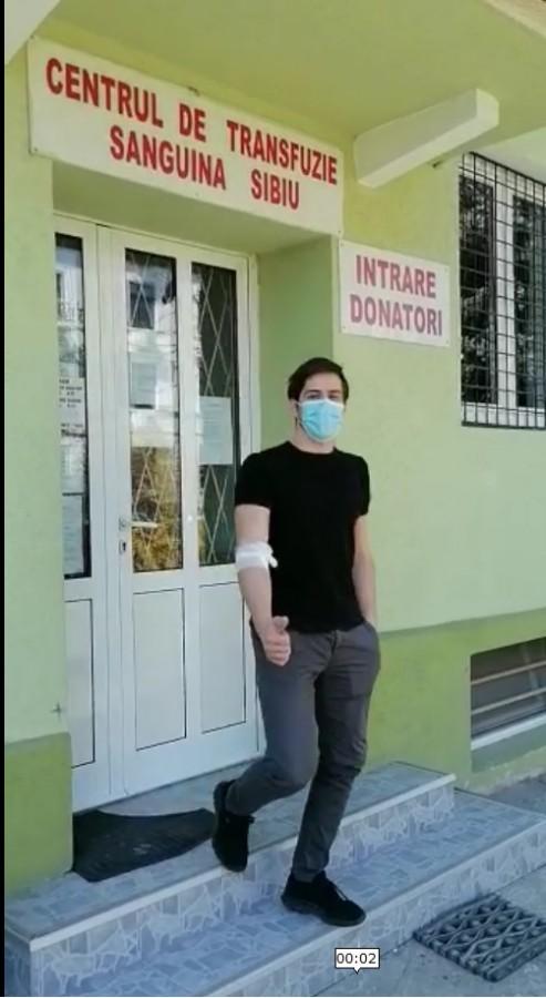 Patrick Mitroi . Sursa foto: Spitalul județean Sibiu
