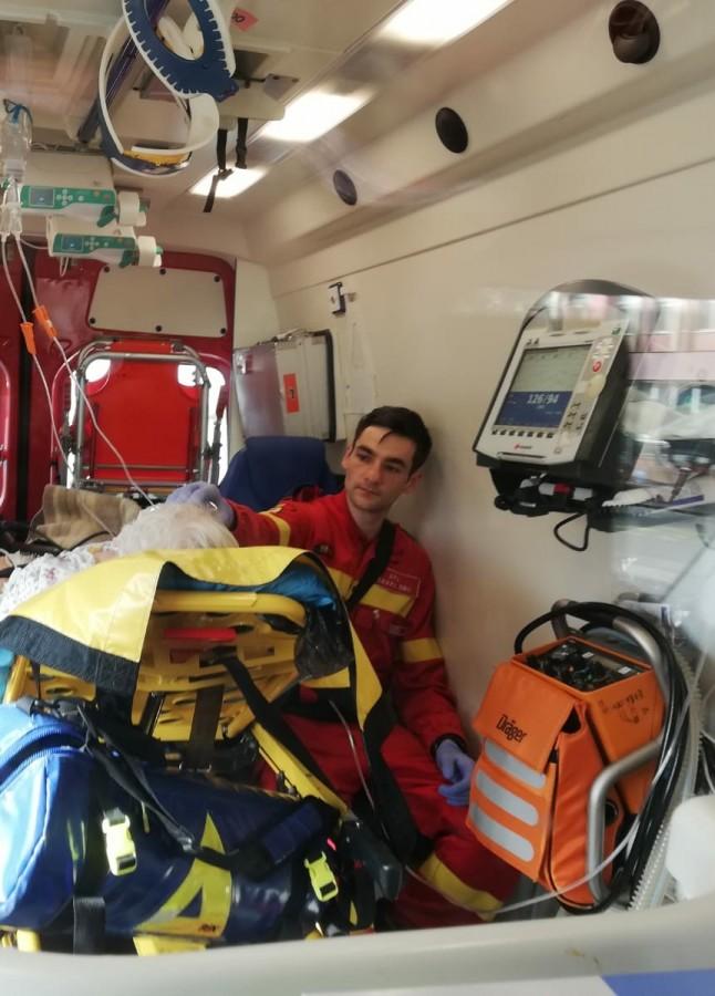 Ovidiu Adrian Bitere, 26 de ani, voluntar SMURD