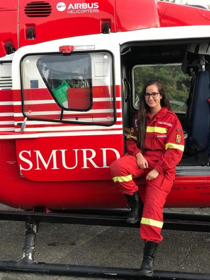 Anastasia Bologa, 21 de ani, voluntar SMURD