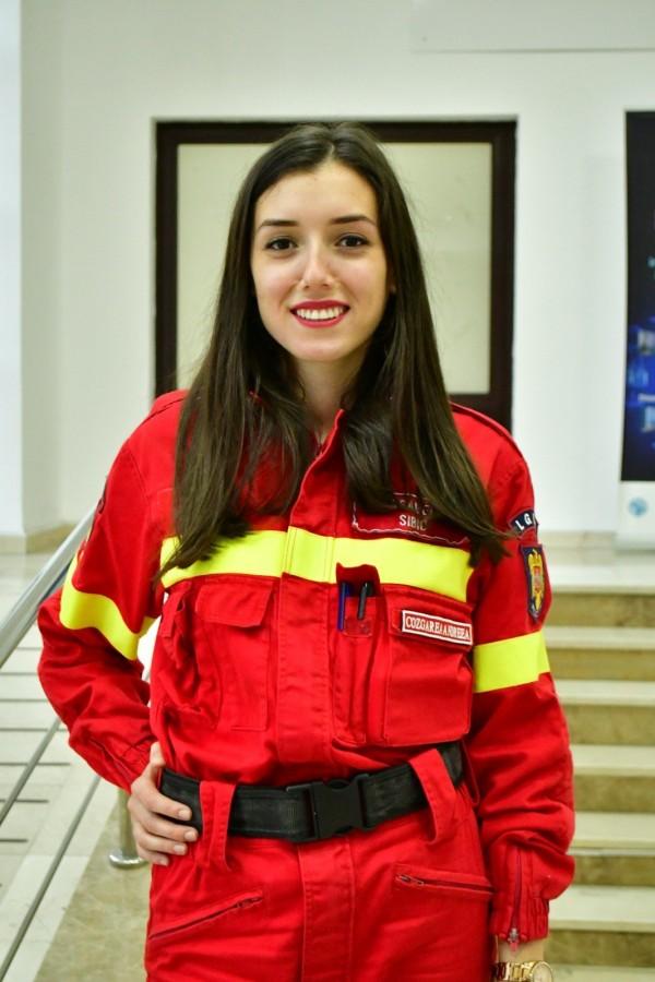Andreea Cozgarea, 23 de ani, voluntar SMURD