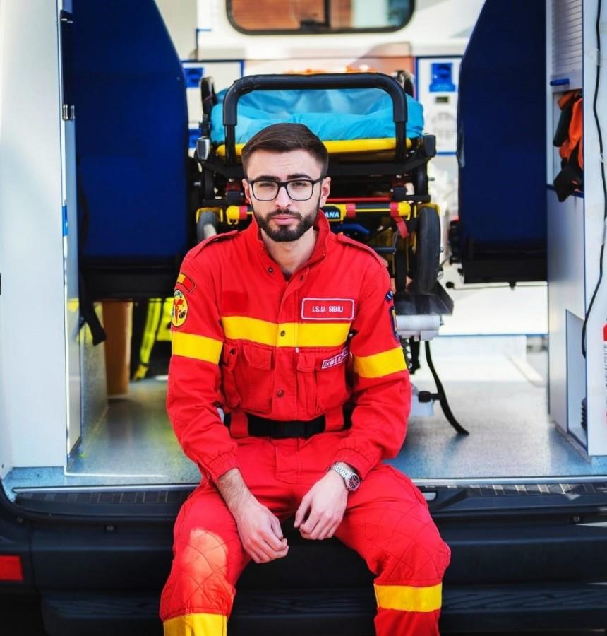 Răzvan Marius Dobre, 25 de ani, voluntar SMURD