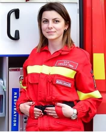 Maria-Ioana Oana- Albu, 22 de ani, voluntar SMURD