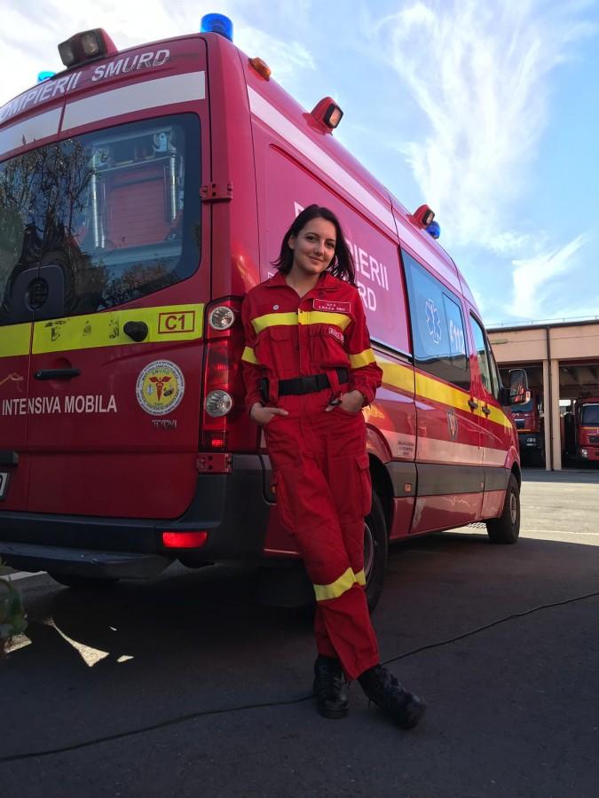 Bianca Pop, 21 de ani, voluntar SMURD