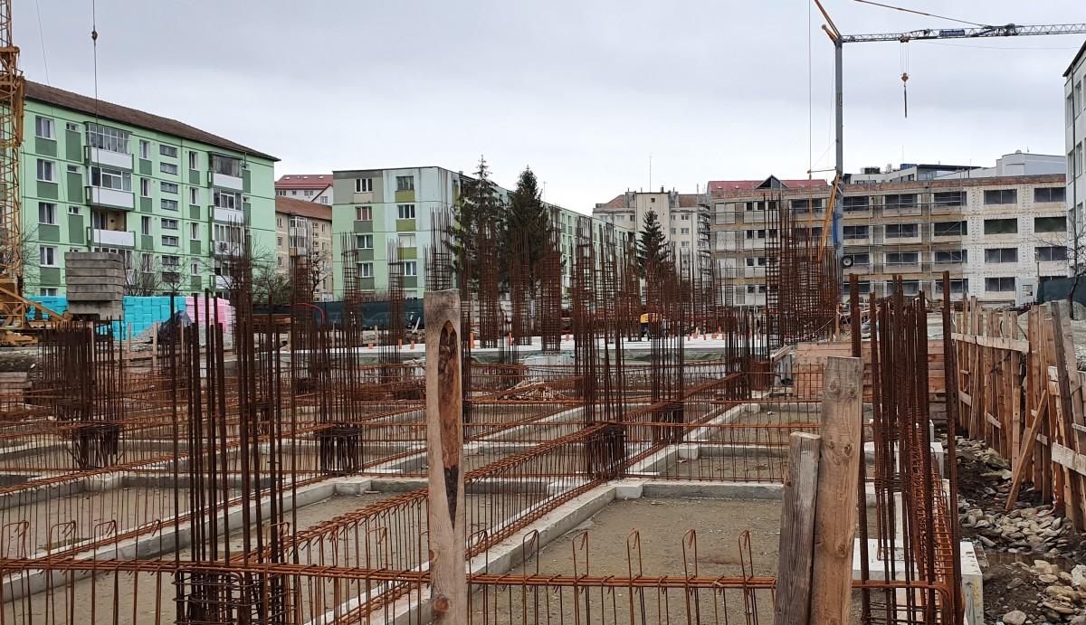 Stadiul lucrărilor, în februarie 2020