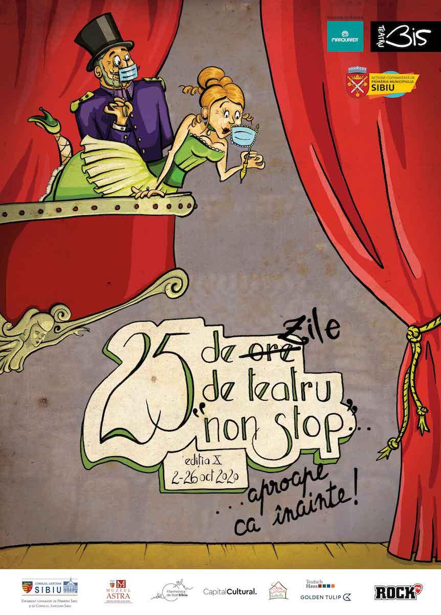 Șapte evenimente în aer liber în intervalul 15-18 octombrie, în cadrul Festivalului 25 DE ZILE DE TEATRU, organizat de BIS Teatru