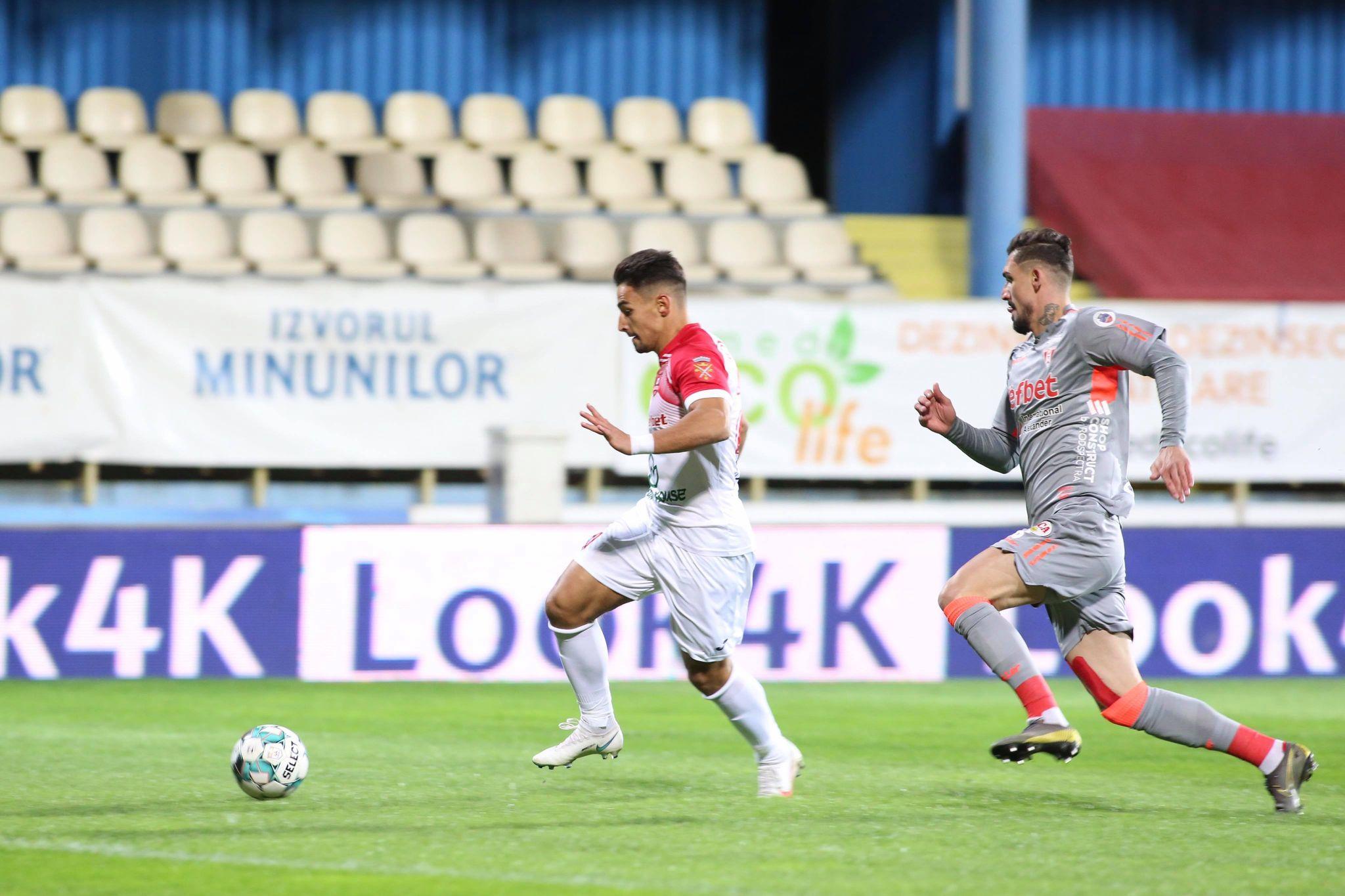 FC Hermannstadt-UTA Arad 1 la 1. Greu pe ploaie la Mediaș