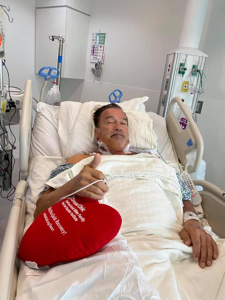 Arnold Schwarzenegger a suferit o operație la inimă și se simte