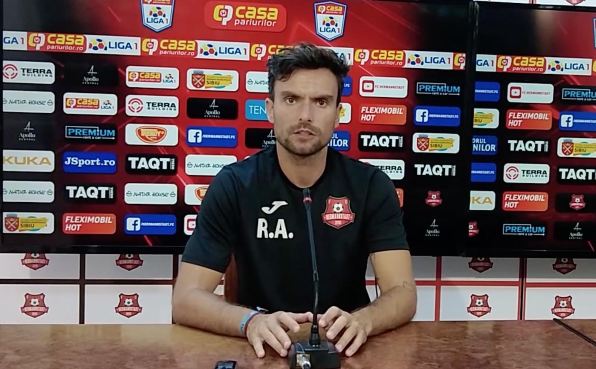 """Ruben Albes, înaintea meciului cu U Craiova: """"Trebuie să schimbăm imaginea lăsată în meciul cu FCSB"""""""