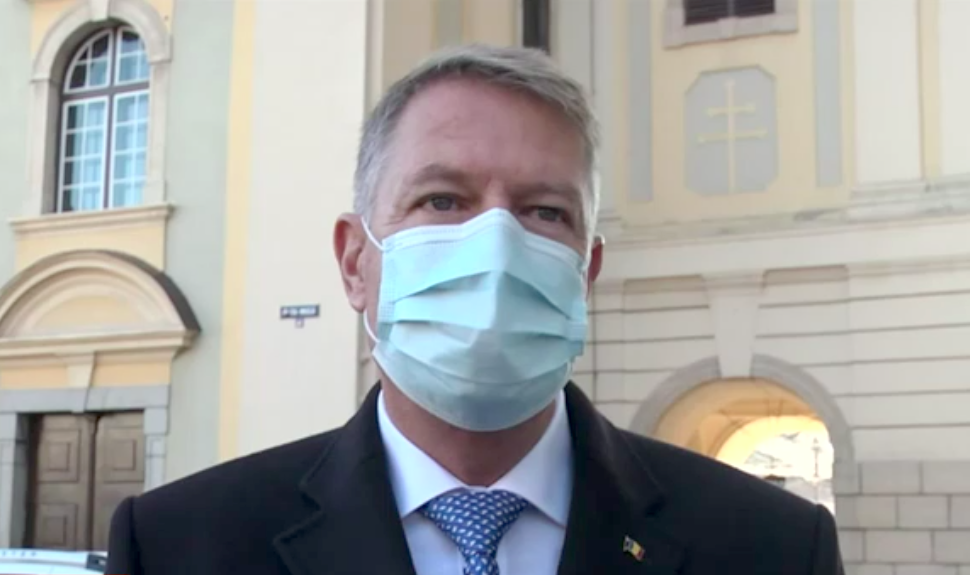 """VIDEO Klaus Iohannis, declarații la Sibiu despre tragedia din Piatra Neamț: """"ne-am rugat pentru victimele incendiului"""""""