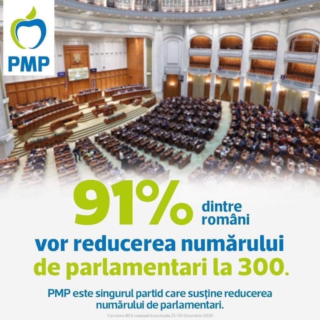 PMP Sibiu: Pact pentru reducerea la 300 a numărului de parlamentari și eliminarea pensiilor speciale
