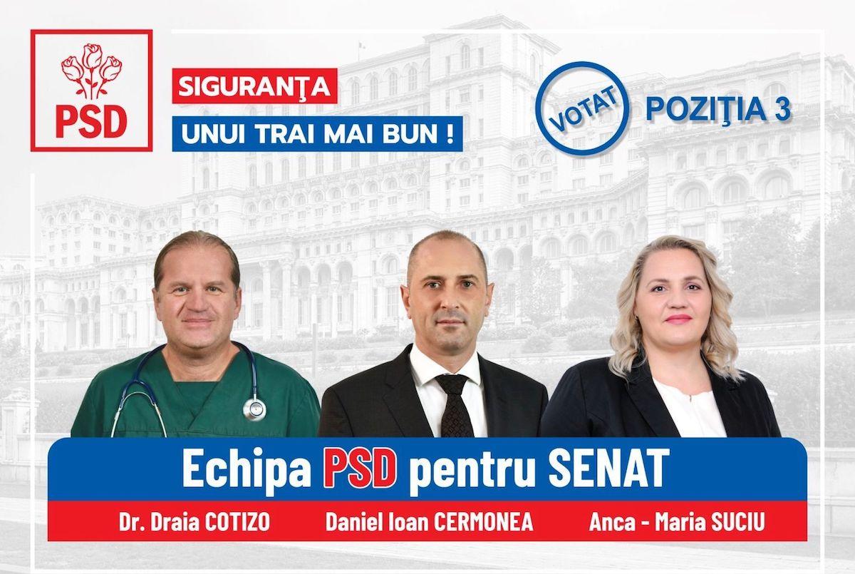 Echipa PSD Sibiu pentru Senatul României