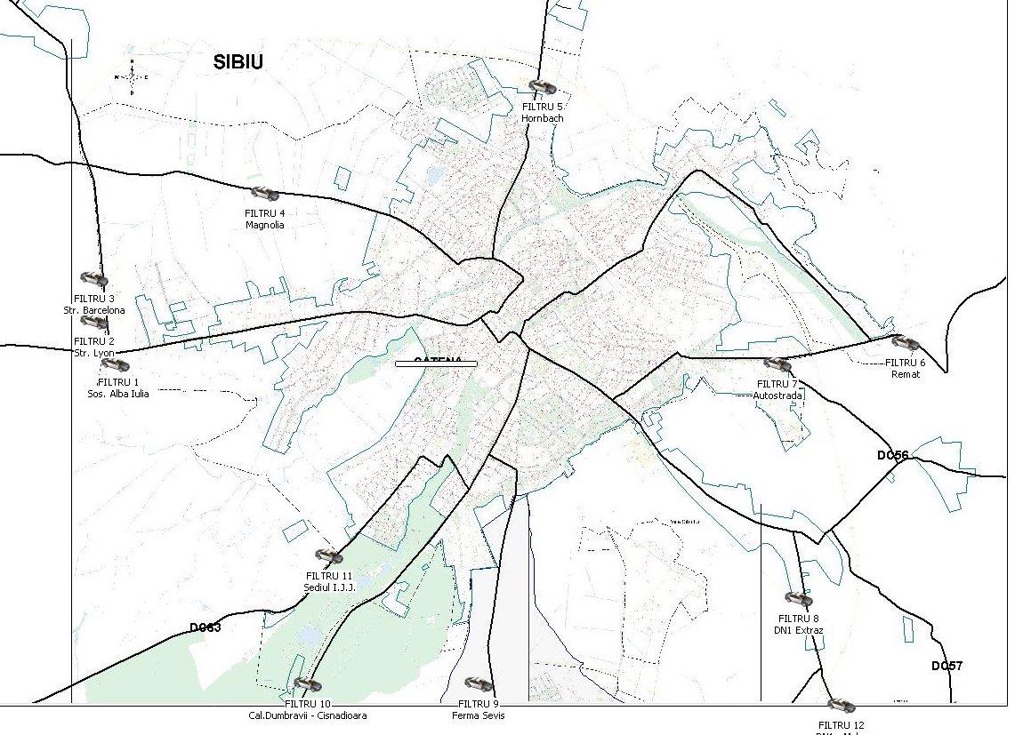 Lista celor 12 filtre create în Sibiu și Șelimbăr pentru verificarea respectării carantinei