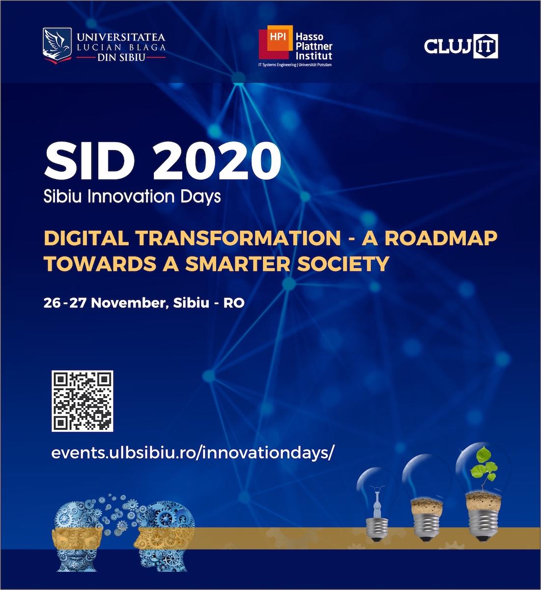 Transformarea digitală: direcția principală spre o societate mai inteligentă la Sibiu Innovation Days 2020