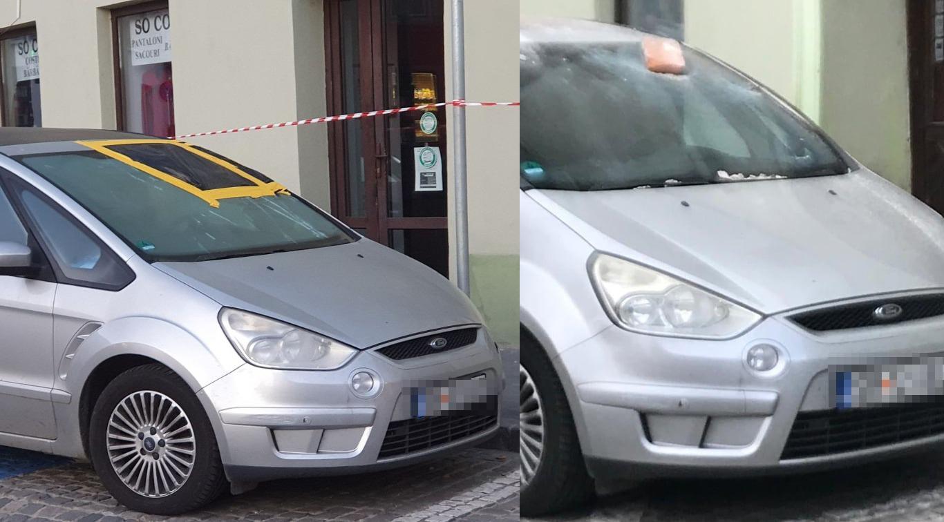 Cum îți recuperezi banii dacă îți găsești mașina cu o țiglă în parbriz?