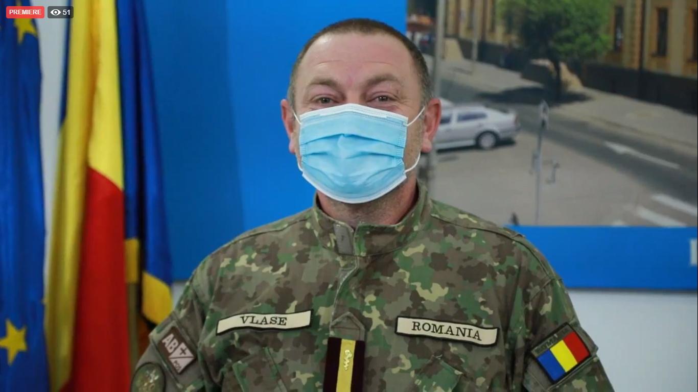 """VIDEO Constantin Vlase, militarul adus la conducerea Spitalului județean Sibiu: """"Eu nu sunt infecționist de ieri, de azi"""""""