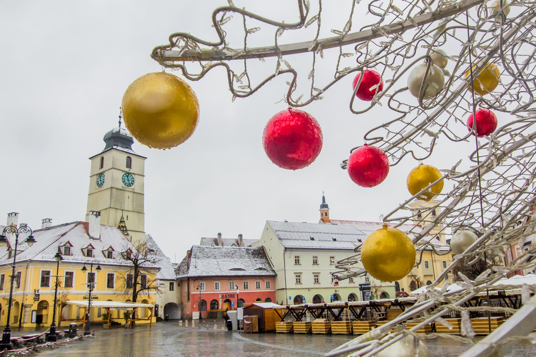 Galerie Foto: Sibiul, frumos sub prima ninsoare