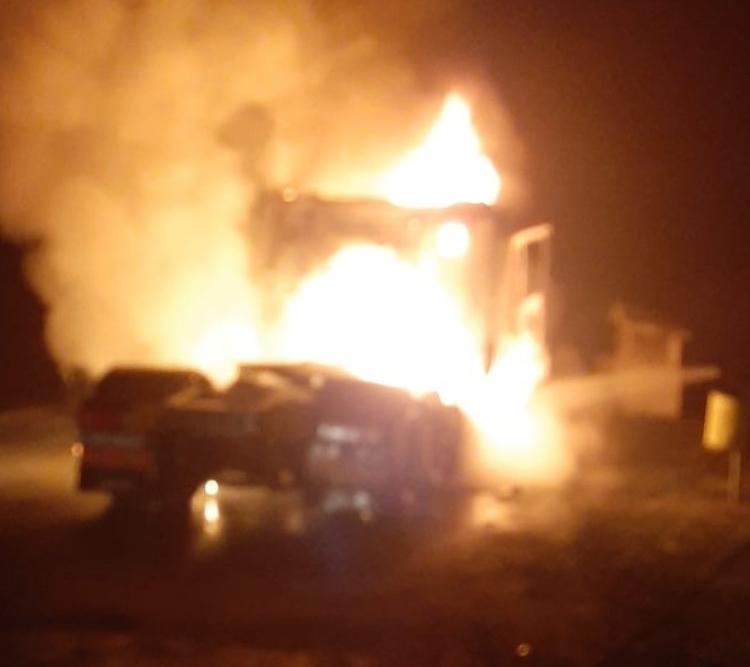 Incendiu pe platforma Holzindustrie Schweighofer din Sebeş
