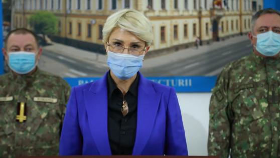 Raluca Turcan: A fost prima opțiune o conducere militară la DSP și Spitalul Județean Sibiu. O astfel de decizie se pregătește și se pune în practică, nu se bate toba.